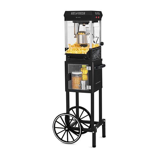 Nostalgia™ KPM200CTBK 2.5 Ounce Popcorn Cart with 5-Quart Popcorn Bowl