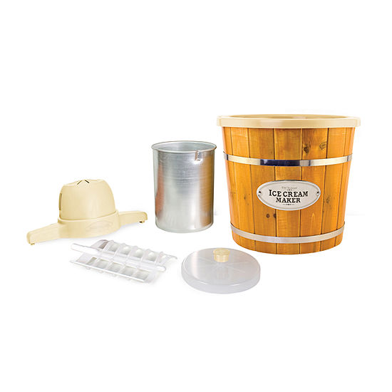 Nostalgia™ WICM4L 4-qt. Electric Ice Cream Maker with Wood Slatted Bucket