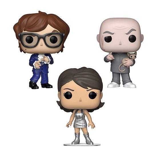 Funko Pop! Movies Austin Powers Collectors Set - Dr. Evil Austin Powers Vanessa Kensington