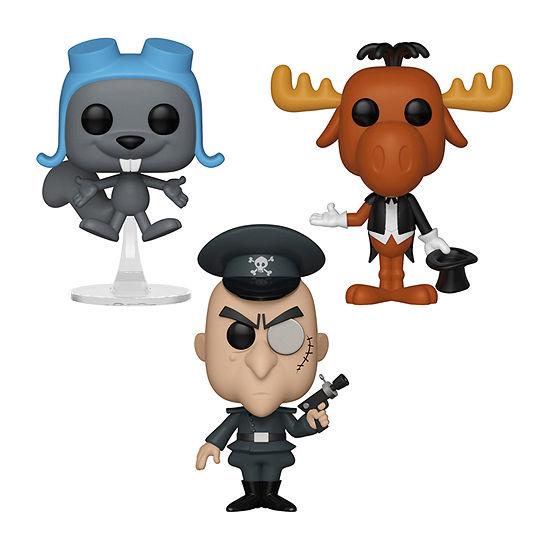 Funko Pop! Animation Rocky & Bullwinkle Collectors Set - Magician Bullwinkle Flying Rocky Bullwinkle Fearlessleader