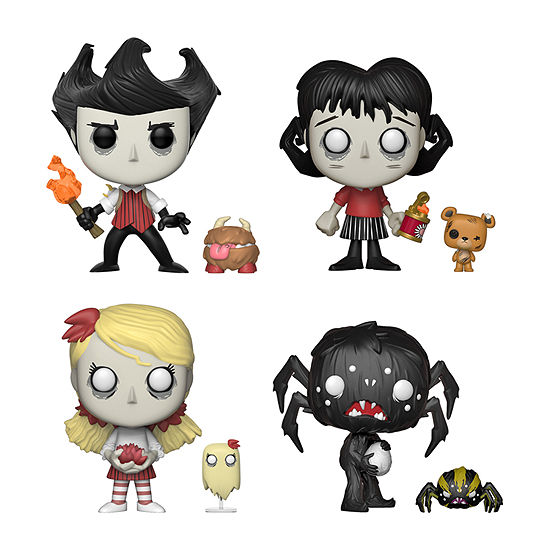 Funko Pop! Don't Starve Collectors Set (Pop & Buddy)- Wilson With Chester Willow With Bernie Wendy With Abigail Webber With Spider
