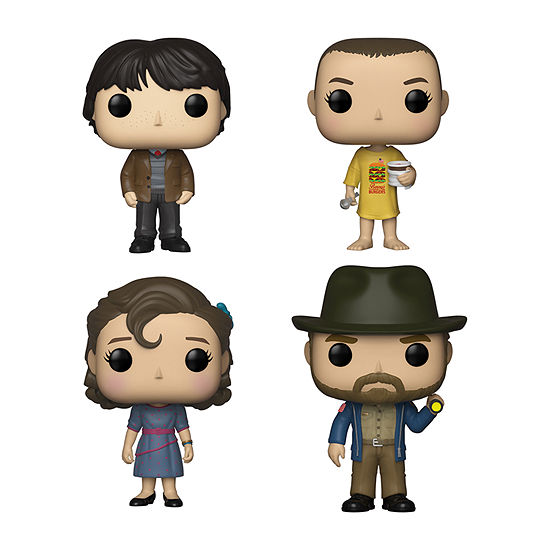 Funko Pop! Tv Stranger Things Collectors Set - Mike At Dance Eleven In Burger Eleven At Dance Hopper With Flashlight