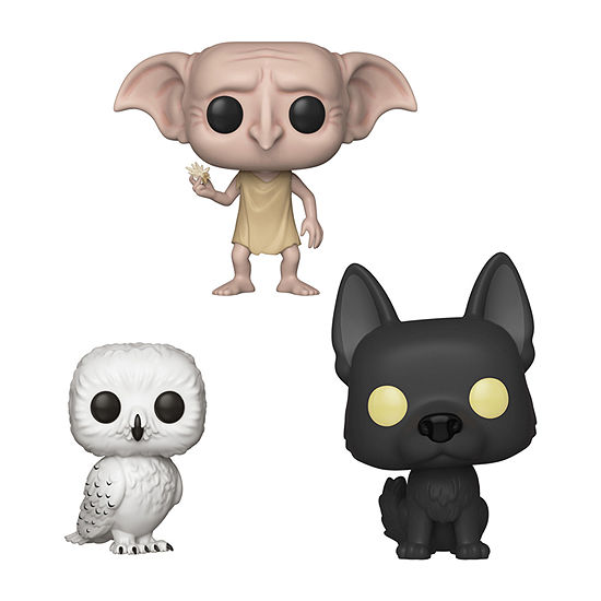 Funko Pop! Harry Potter Series 5 Collectors Set 2 - Hedwig Dobby Snapping His Fingers Sirius As A Dog