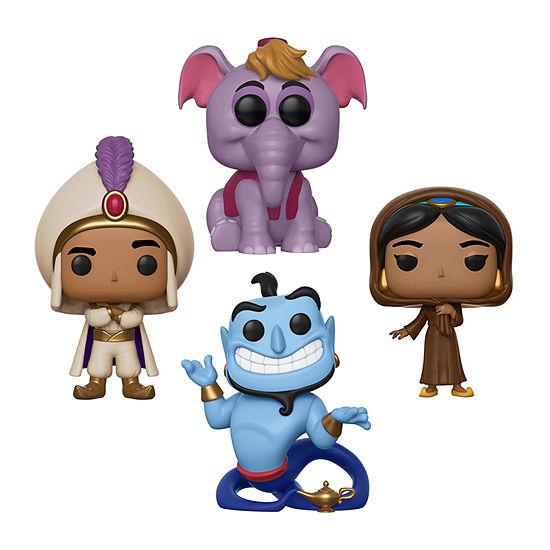 Funko Pop! Disney Aladdin Collectors Set - Prince Ali Jasmine In Disguise Elephant Abu Genie With Lamp