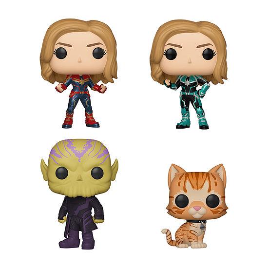 Funko Pop! Captain Marvel Vers Talos Goose The Cat Collectors Set