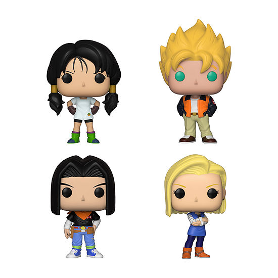 Funko Pop! Animation Dragon Ball Z Series 5 Collectors Set - Videl Goku(Casual) Android 17 Android 18
