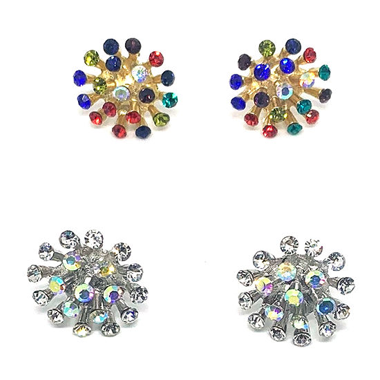 Bijoux Bar Multi Color 1 Inch Stud Earrings
