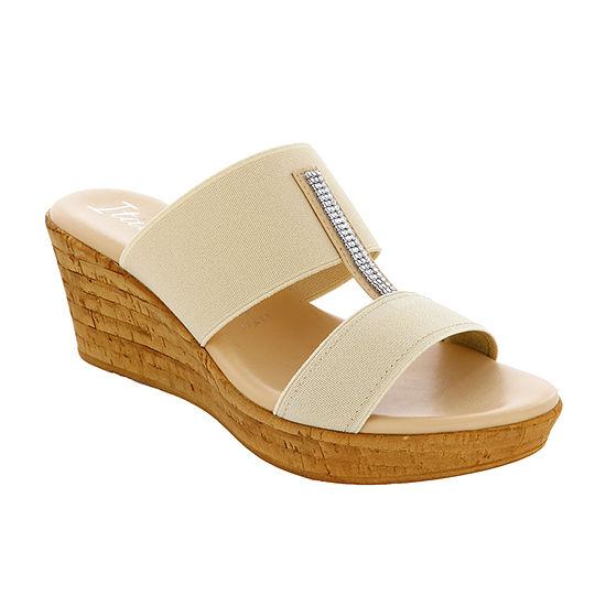 Italiana By Italian Shoemakers Womens Traci Wedge Sandals