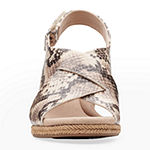 Clarks Womens Lafley Alaine Wedge Sandals