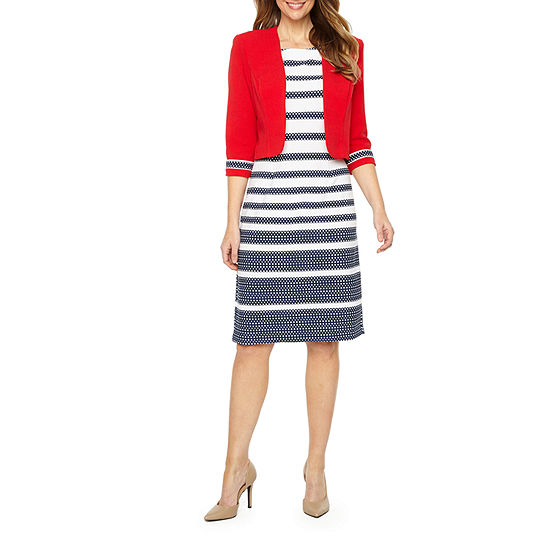 Maya Brooke Sleeveless Midi Jacket Dress