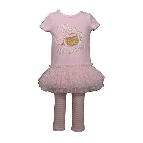Bonnie Jean Football Girls 2-pc. Legging Set-Baby
