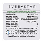 Ever Star 1/2 CT. T.W. Lab Grown White Diamond 10K White Gold Stud Earrings
