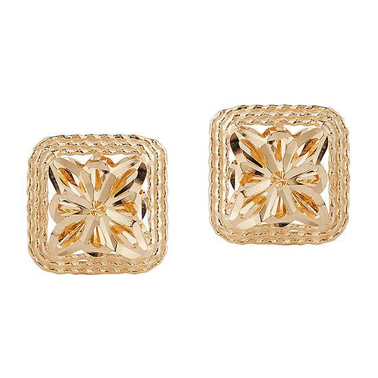 14K Gold 9.5mm Stud Earrings