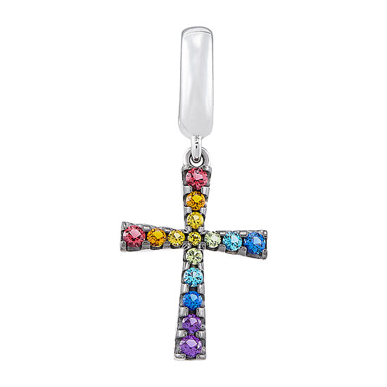 PS Personal Style Multi Color Stone Cross Charm