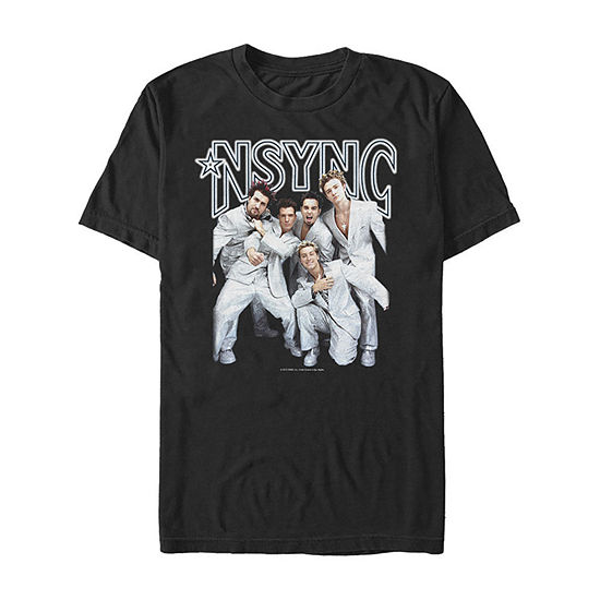 N'Sync Pop Stars Poster Mens Crew Neck Short Sleeve Music Graphic T-Shirt