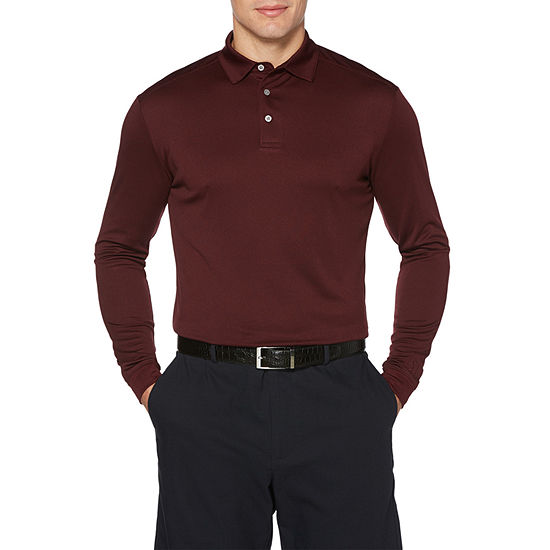 PGA TOUR Mens Collar Neck Long Sleeve Polo Shirt