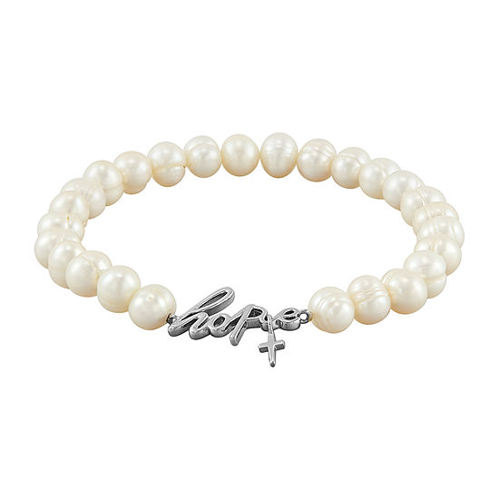 Honora Legacy White Cultured Freshwater Pearl Stretch Bracelet