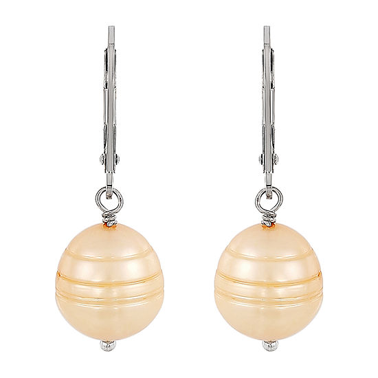 Honora Legacy Dyed Champagne Cultured Freshwater Pearl Sterling Silver Drop Earrings