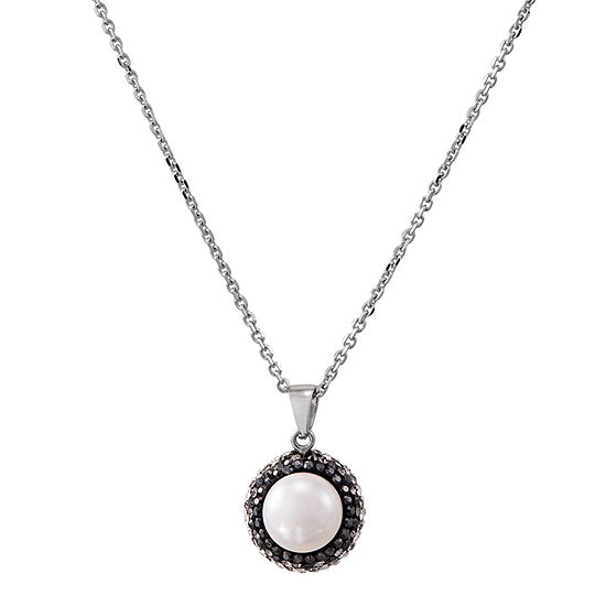 Honora Legacy Womens Dyed White Cultured Freshwater Pearl Sterling Silver Pendant