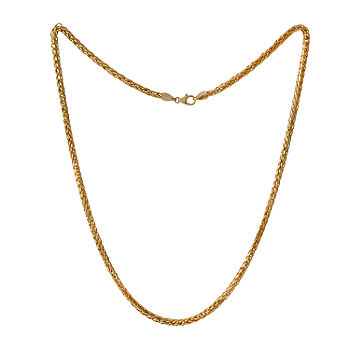 Made In Italy 10k Gold 22 Inch Semisolid Wheat Chain Necklace Jcpenney