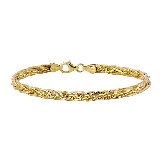 Made in Italy 24K Gold Over Silver Charm Bracelet