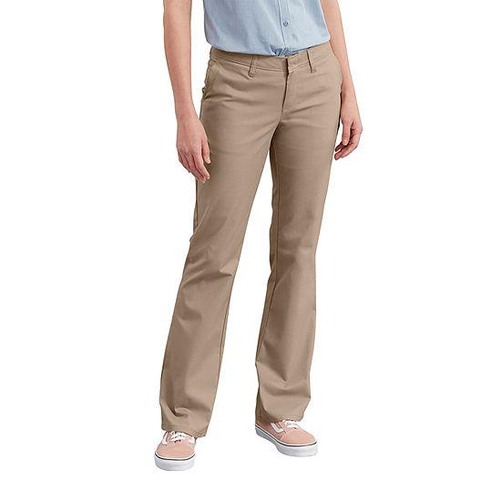 Dickies® Women's Slim Fit Boot Cut Stretch Twill Pants