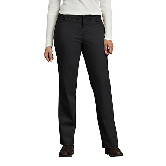 Dickies® Women's Curvy Fit Straight Leg Stretch Twill Pants