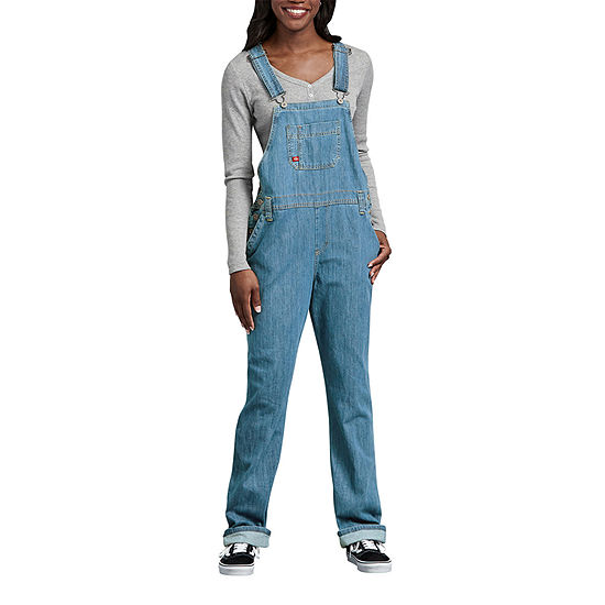 Dickies® Women's Relaxed Fit Straight Leg Bib Overalls