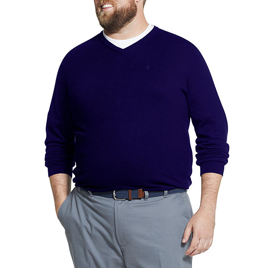 IZOD Big and Tall V-neck Sweater