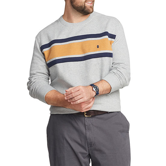 IZOD Fleece Colorblock Crewneck Pullover - Big and Tall