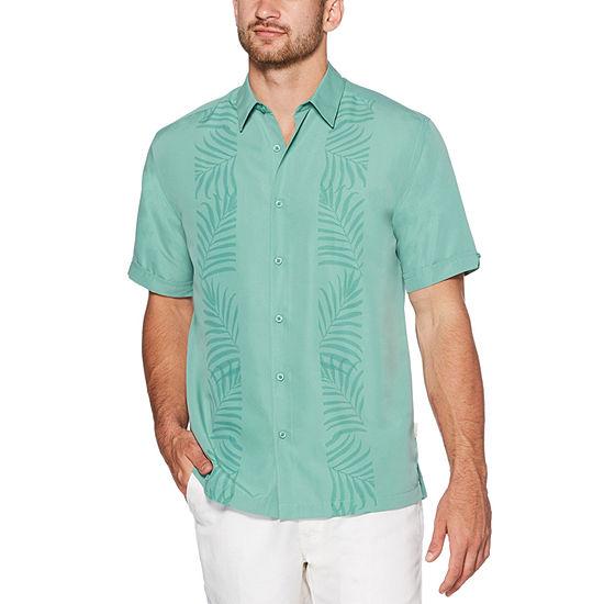 Cubavera Big and Tall Mens Short Sleeve Button-Down Shirt