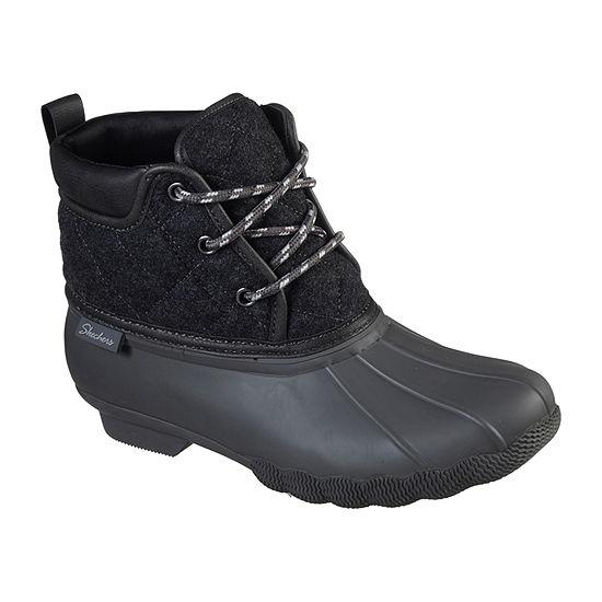 Skechers Womens Pond Lil Puddles Rain Flat Heel  Boots