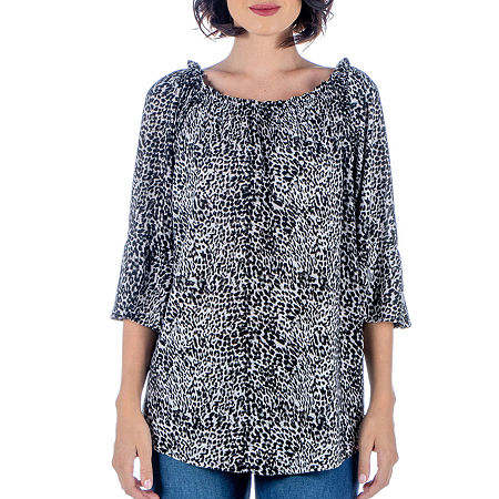 24/7 Comfort Apparel Womens Bell Sleeve Loose Fit Tunic, Small , Multiple Colors