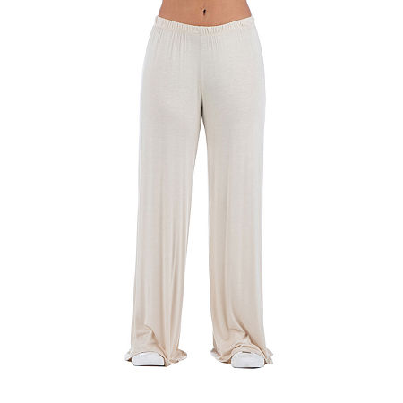 24/7 Comfort Apparel Womens Flare Palazzo Pant, Small , Beige