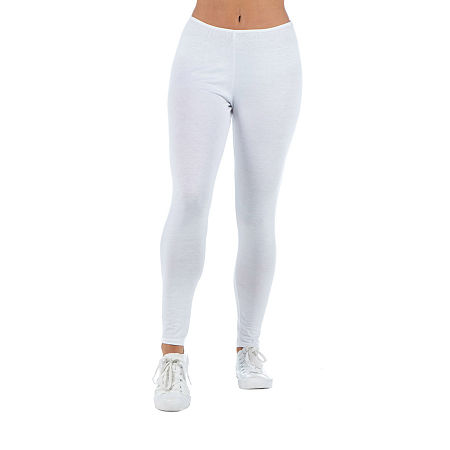 24/7 Comfort Apparel Womens Full Length Leggings, 1x , White