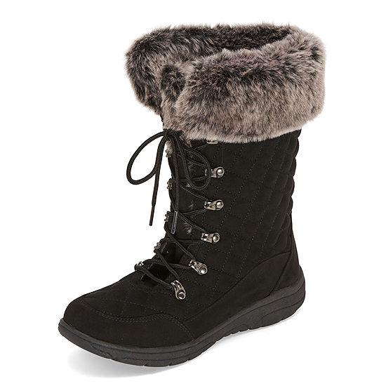 St. John's Bay Womens Cape Lace Up Flat Heel Boots