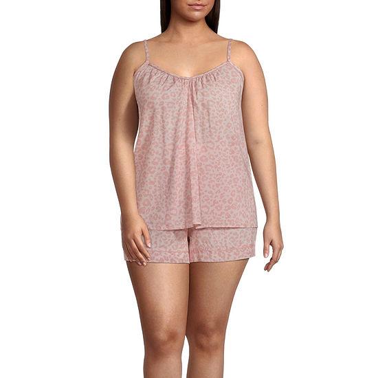 Ambrielle Womens-Plus Shorts Pajama Set 2-pc. Sleeveless