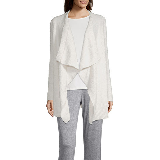 Ambrielle Womens Knit Robe Long Sleeve Mid Length