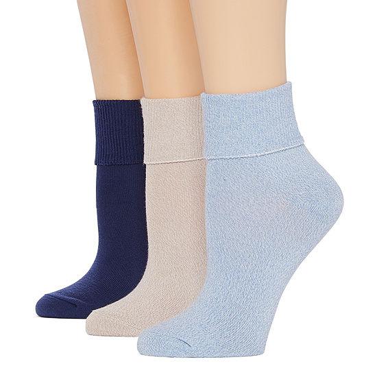 Mixit 3 Pair Turncuff Socks Womens
