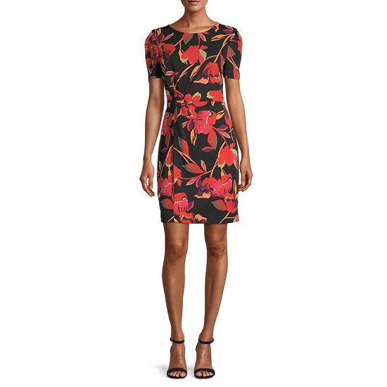Donna Ricco Short Sleeve Sheath Dress