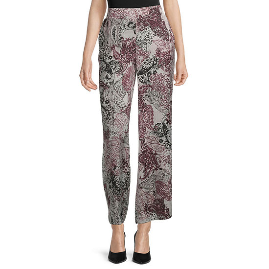 Black Label by Evan-Picone Womens Straight Flat Front Pant