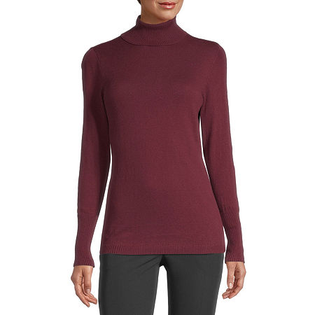 Closure Type: Pullover HeadFit: FittedNeckline: TurtleneckSleeve Length: Long SleeveApparel Length: 27.5 Inches - FrontFabric Content: 53% Cotton, 40% Nylon, 7% RayonFabric Description: KnitCare: Machine WashCountry of Origin: Imported