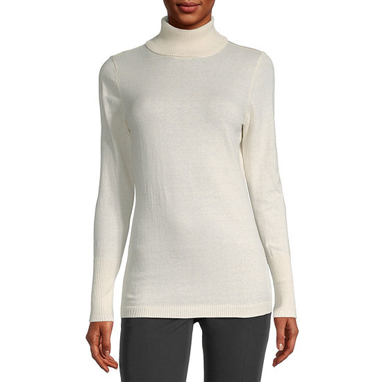 Worthington Long Sleeve Turtleneck Sweater - Tall
