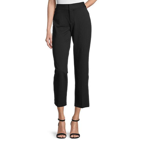 Liz Claiborne-Petite Slim Fit Slim Trouser