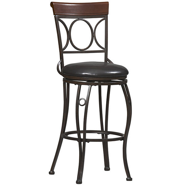 Circles-Back Swivel Barstool