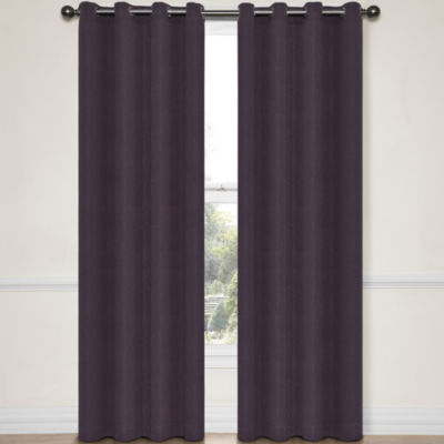 Eclipse® Abby Grommet-Top Blackout Curtain Panel with Thermalayer