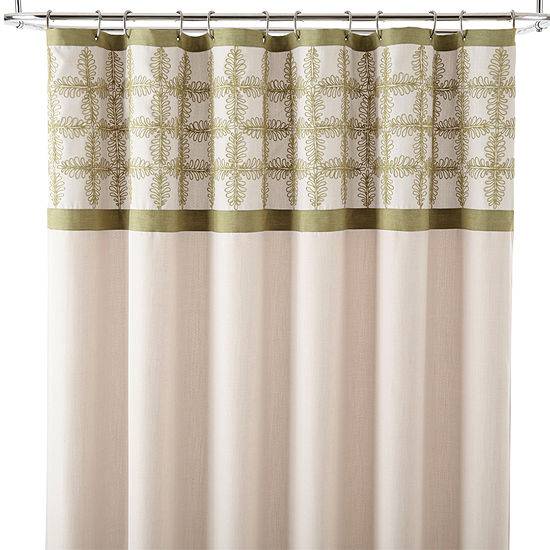 JCPenney Home™ Pieced Embroidery Shower Curtain