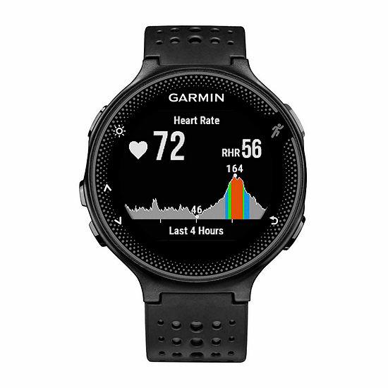 Garmin Forerunner 235 GPS + Heart Rate Black Smartwatch-0100371754key
