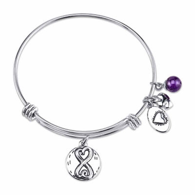 Footnotes Stainless Steel Charm Bracelet