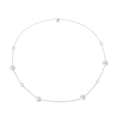 Liz Claiborne Womens White Strand Necklace